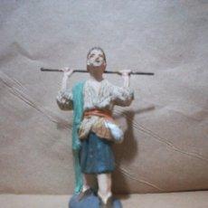 Figuras de Belén: FIGURA ANTIGUA DE PASTOR CATALANA PARA BELÉN PESEBRE NACIMIENTO HUEVO FRITO CACHARRERIA. Lote 127249359