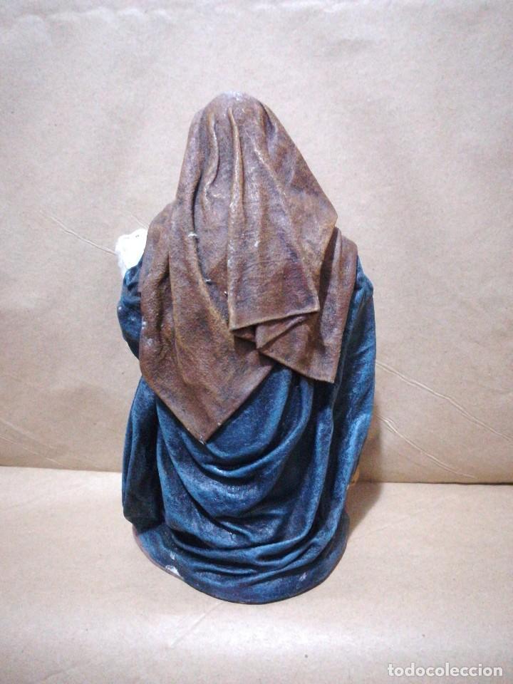Figuras de Belén: Figura de pastora hilandera para belén pesebre nacimiento huevo frito cacharreria - Foto 2 - 127249755