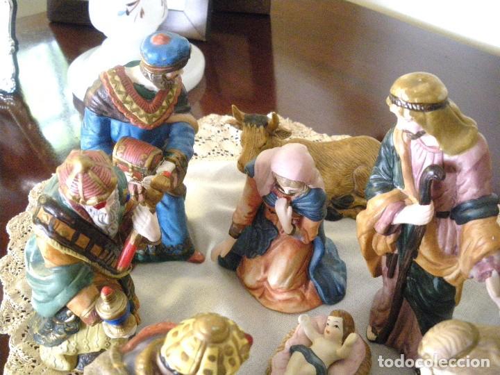 Figuras de Belén: Figuras de Belén de cerámica pintada a mano - Foto 3 - 128998775