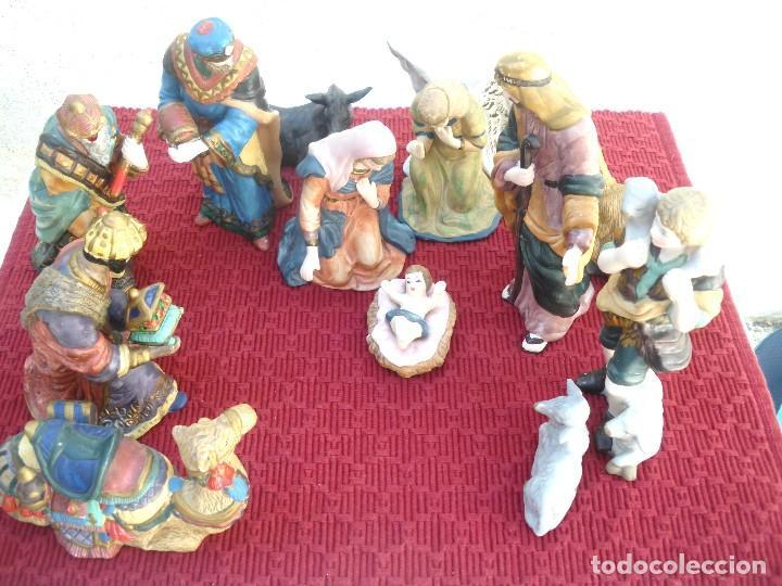 Figuras de Belén: Figuras de Belén de cerámica pintada a mano - Foto 5 - 128998775
