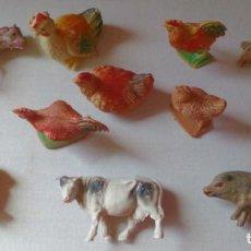 Figuras de Belén: LOTE 10 ANIMALES DE PLÁSTICO VINTAGE FIGURAS BELÉN NACIMIENTO . Lote 129987527