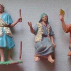 Figuras de Belén: LOTE 5 FIGURAS BELÉN NACIMIENTO PLÁSTICO VINTAGE . Lote 130059415