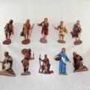 Figuras de Belén: BELÉN AÑOS 60, 12 FIGURAS DE PASTORES, CASI TODOS DE LOS 60. Lote 131174852