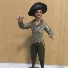 Figuras de Belén: ANTIGUA FIGURA DE BELEN DE BARRO S. XIX - 14,5 CM ORIGINAL DE LA ÉPOCA NO REPRODUCCIÓN . Lote 131612006