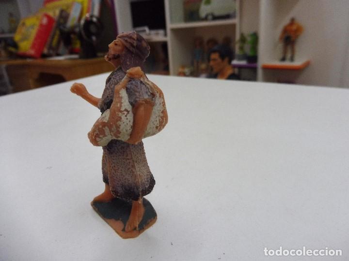 Figuras de Belén: Figura goma pvc antiguo pastor aldeano campesino pesebre nacimiento - Foto 2 - 131926114