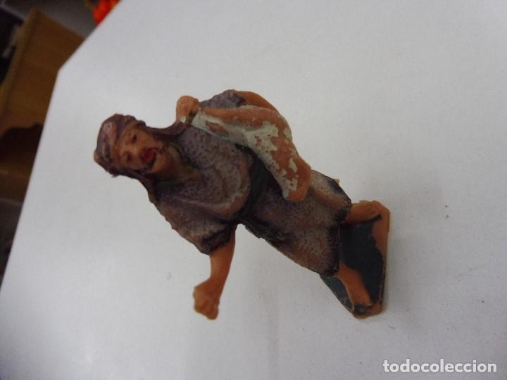 Figuras de Belén: Figura goma pvc antiguo pastor aldeano campesino pesebre nacimiento - Foto 6 - 131926114
