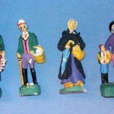 Figuras de Belén: ANTIGUO LOTE DE FIGURAS DE BELEN EN TERRACOTA ORIGINALES VER FOTOS. Lote 133231554