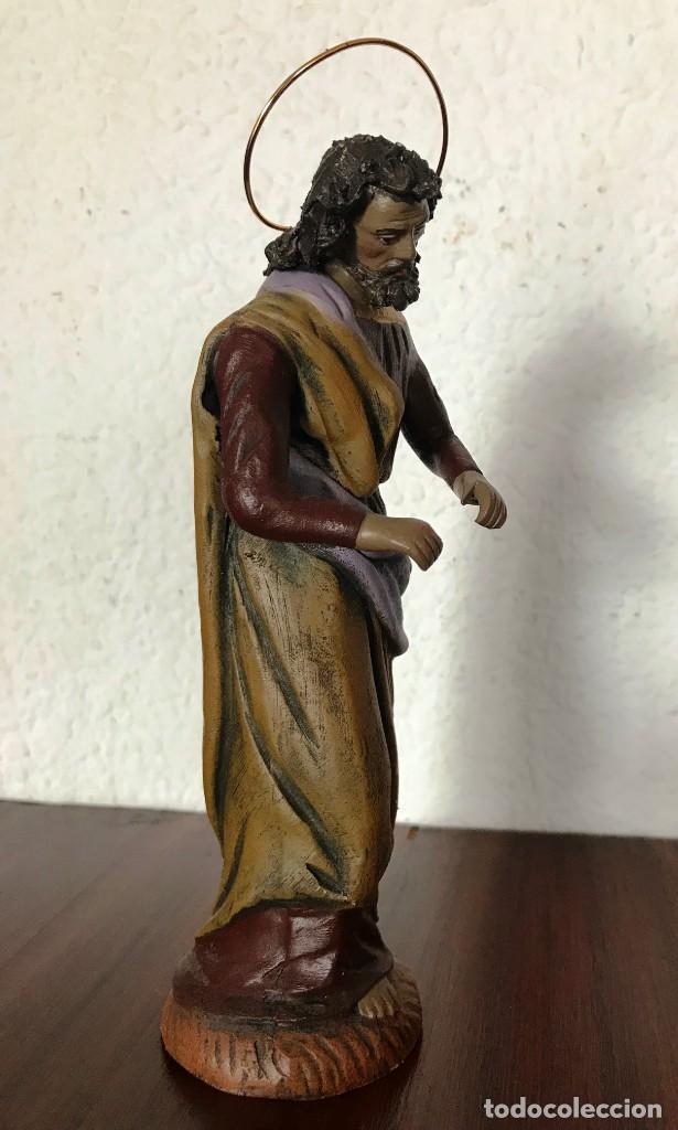 Figuras de Belén: FIGURA BELEN NACIMIENTO SAN JOSE, TERRACOTA, PESO 333 GR, ALTO 19 CM, ANCHO 5,50 CM, FONDO 5,50 CM - Foto 2 - 133995346
