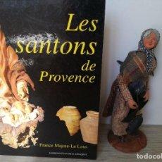 Figuras de Belén: ANTIGUA FIGURA LES SANTONS DE PROVENCE - FIGURAS DE GRAN FORMATO EN TERRACOTA- ANCIANA CON FAROL - F. Lote 134004538