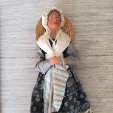 Figuras de Belén: PRECIOSA Y ANTIGUA FIGURA LES SANTONS DE PROVENCE - FIGURAS DE GRAN FORMATO EN TERRACOTA- JOVEN CON. Lote 134005550