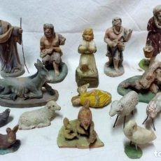 Figuras de Belén: LOTE 16 ANTIGUAS FIGURAS DE BARRO PARA PESEBRE. VER DESCRIPCIÓN.. Lote 134286490