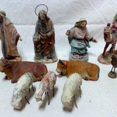 Figuras de Belén: LOTE 13 ANTIGUAS FIGURAS DE BARRO PARA PESEBRE. VER DESCRIPCIÓN.. Lote 134286742