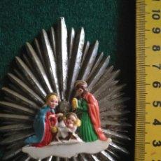 Figuras de Belén: NACIMIENTO FIGURA DE BELEN PLASTICO DURO ANTIGUAS . VER MEDIDAS EN FOTO , MAS EN TIENDA. Lote 134914686