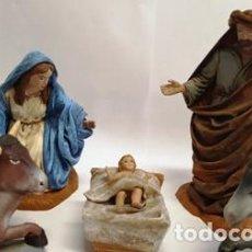 Figuras de Belén: PRECIOSO PESEBRE DE DUREXINA Y TELA , CON SELLO CASA OLIVER AÑOS 70 . Lote 134930386