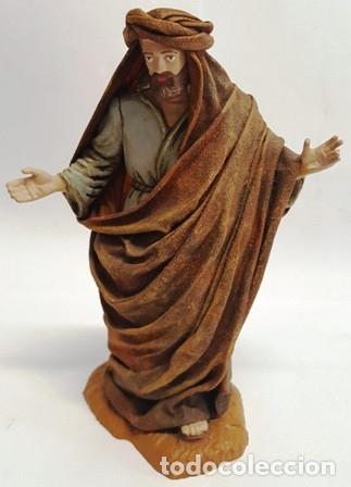 Figuras de Belén: PRECIOSO PESEBRE DE DUREXINA Y TELA , CON SELLO CASA OLIVER AÑOS 70 - Foto 2 - 134930386