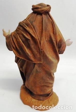Figuras de Belén: PRECIOSO PESEBRE DE DUREXINA Y TELA , CON SELLO CASA OLIVER AÑOS 70 - Foto 4 - 134930386