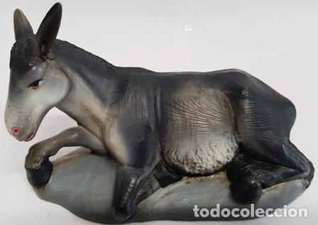 Figuras de Belén: PRECIOSO PESEBRE DE DUREXINA Y TELA , CON SELLO CASA OLIVER AÑOS 70 - Foto 10 - 134930386