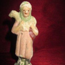 Figuras de Belén: FIGURA BELEN DE BARRO O TERRACOTA, 8,6 CM.. Lote 136120806