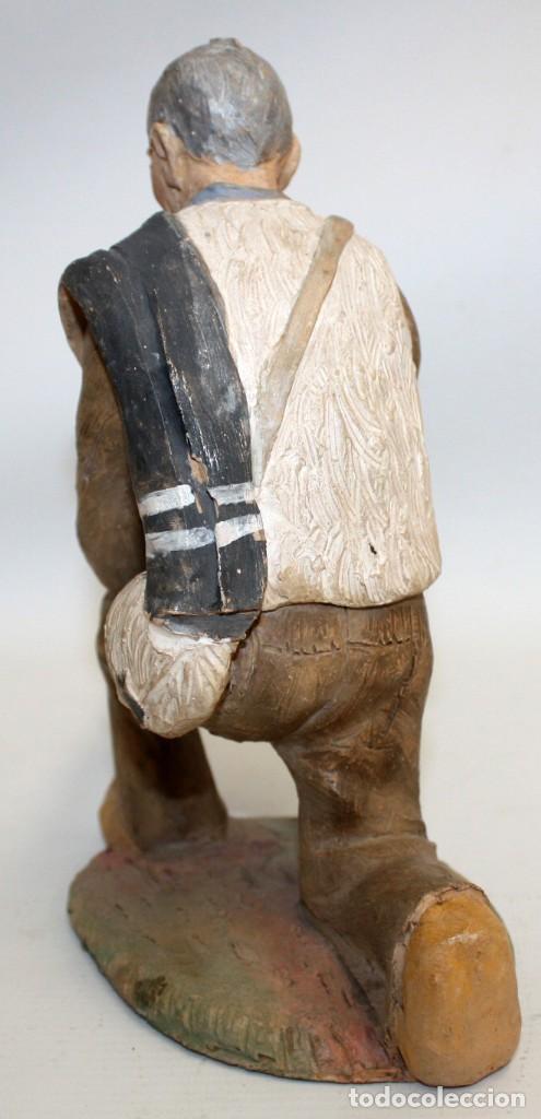 Figuras de Belén: JOSEP MARIA BRULL PAGÈS (Ascó, 1907 - Ripollet, 1995) FIGURA DE BELEN EN TERRACOTA. PESEBRE - Foto 4 - 136367710