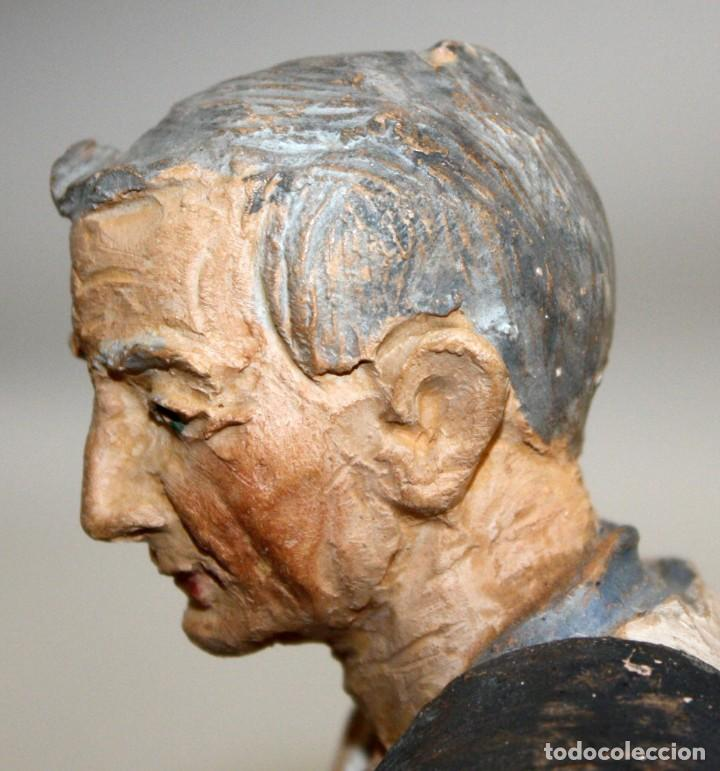 Figuras de Belén: JOSEP MARIA BRULL PAGÈS (Ascó, 1907 - Ripollet, 1995) FIGURA DE BELEN EN TERRACOTA. PESEBRE - Foto 6 - 136367710