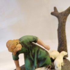 Figuras de Belén: FIGURA DE BELÉN DE TERRACOTA ( BARRO ). Lote 137296572