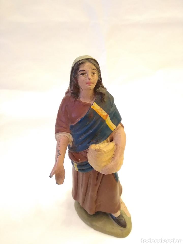FIGURA DE BELÉN DE TERRACOTA ( BARRO ) (Coleccionismo - Figuras de Belén)