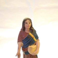 Figuras de Belén: FIGURA DE BELÉN DE TERRACOTA ( BARRO ). Lote 137298436