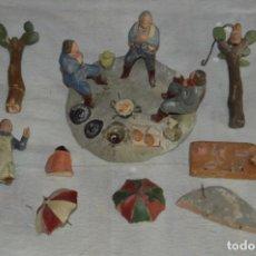 Figuras de Belén: LOTE DE ANTIGUAS FIGURAS DE BELÉN, FABRICADAS EN BARRO - DE LOS AÑOS 50 O ANTERIORES - ENVÍO 24H. Lote 137300854