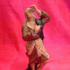 Figuras de Belén: FIGURA DE BELÉN DE TERRACOTA ( BARRO). Lote 137304410