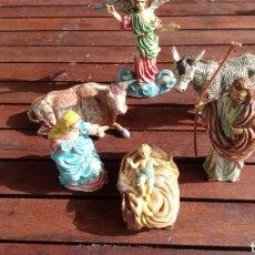 Figuras de Belén: FIGURAS NATIVIDAD PLÁSTICO AÑOS60. Lote 137334549