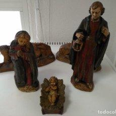 Statuine di Presepe: NACIMIENTO FIGURAS BELEN ESCAYOLA CINCO FIGURAS. Lote 137396414