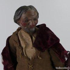 Figuras de Belén: FIGURA BELÉN NAPOLITANO - TERRACOTA PINTADA AL ÓLEO OJOS DE CRISTAL - PRINCIPIOS SIGLO 20. Lote 137565646