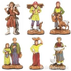 Figuras de Belén: 13 PASTORCILLOS + REGALO DE REYES MAGOS ADORANDO / LANDI MORANDUZZO. Lote 137625778