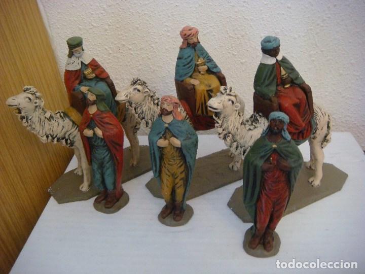 9382e08261b FIGURAS PARA EL BELEN REYES MAGOS Y SUS PAJES EN RESINA ( ) (Coleccionismo