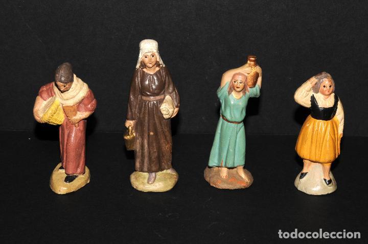 LOTE DE FIGURAS DE BELEN O PESSEBRE EN TERRACOTA (Coleccionismo - Figuras de Belén)