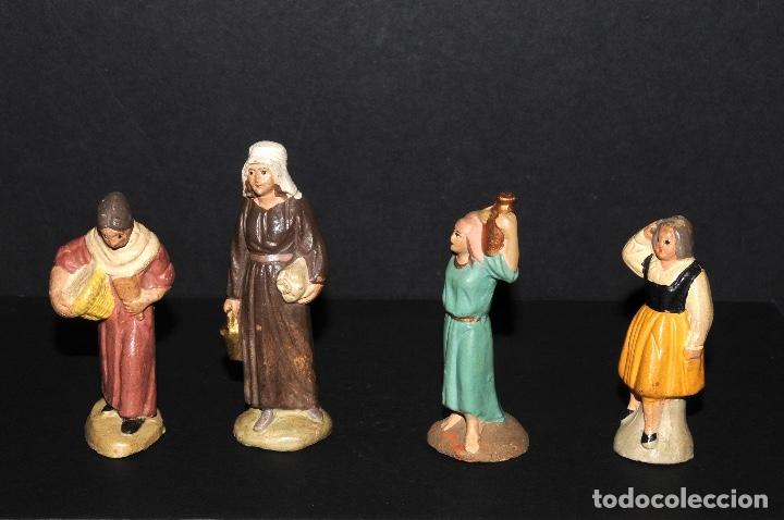 Figuras de Belén: LOTE DE FIGURAS DE BELEN O PESSEBRE EN TERRACOTA - Foto 3 - 137892482