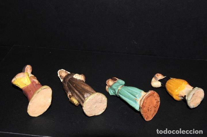 Figuras de Belén: LOTE DE FIGURAS DE BELEN O PESSEBRE EN TERRACOTA - Foto 4 - 137892482