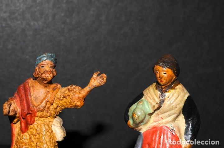 Figuras de Belén: LOTE DE FIGURAS DE BELEN O PESSEBRE EN TERRACOTA - Foto 3 - 137892718