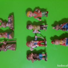 Figuras de Belén: LOTE DE 9 UNIDADES DE FIGURITAS DE BELÉN DE LOS AÑOS 30 A 50 APROX FABRICADAS POR JECSAN O SIMILARES. Lote 138052818