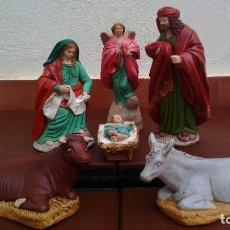 Figuras de Belén: NACIMIENTO DE ESCAYOLA,FIGURAS DE BELÉN,NAVIDAD,SAN JOSÉ 20 CM. Lote 138095434