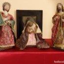 Figuras de Belén: FIGURAS DE BELÉN. 35 CM DE ALTURA. SIGLO XX.. Lote 139001670