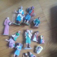 Figuras de Belén: ANTIGUAS FIGURAS DE BELEN OLIVER Y TERRACOTA. Lote 139351992