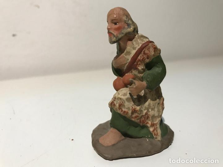 Figuras de Belén: Figura de Belén en terracota barro. Mitad siglo XX. Pintado a mano - Foto 2 - 139423330