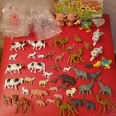 Figuras de Belén: SUPER LOTE ANTIGUO FIGURAS DE BELEN ANIMALES OLIVER PECH HERMANOS PLASTICO PVC PUIG LLOBERA. Lote 139460442