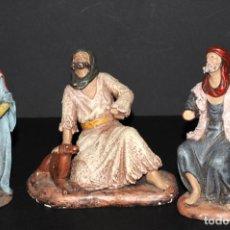Figuras de Belén: LOTE DE FIGURAS DE BELEN O PESSEBRE EN BARRO O TERRACOTA - PERSONAJES. Lote 140132934
