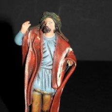 Figuras de Belén: FIGURA DE BELEN O PESSEBRE EN BARRO O TERRACOTA - PERSONAJE. Lote 140139134