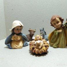 Figuras de Belén: FIGURAS DE BELEN(PESEBRE) DE MARMOLINA, NACIMIENTO INFANTIL . Lote 140536238