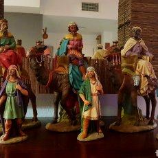 Figuras de Belén: CABALGATA 3 REYES MAGOS DE ORIENTE. Lote 140569798