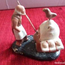 Figuras de Belén: PANADERO EN EL HORNO. TERRACOTA. Lote 140616930