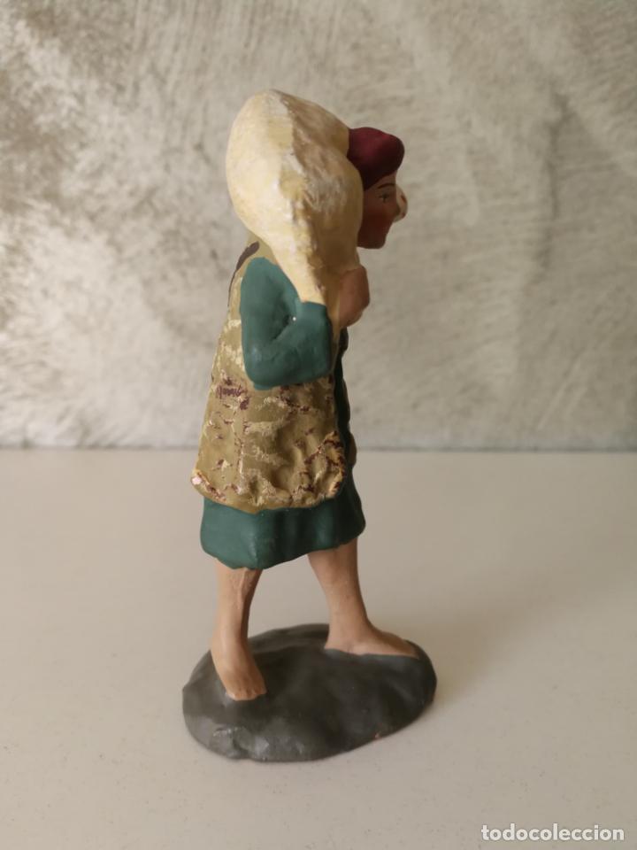 Figuras de Belén: ANTIGUA FIGURA BELÉN BARRO TERRACOTA PASTOR CON CORDERO AL HOMBRO - Foto 2 - 140660290